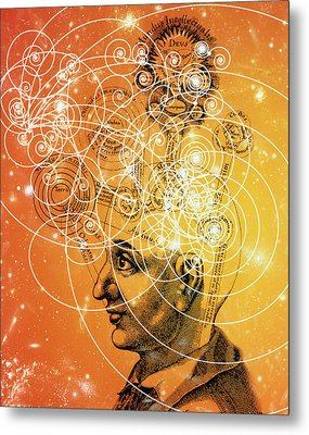 Particle Tracks And Old Cosmology Metal Print by Mehau Kulyk