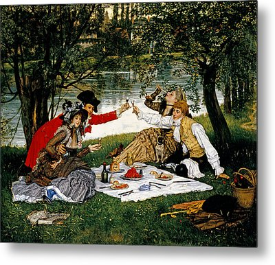 Partie Carree Metal Print by James Jacques Joseph Tissot