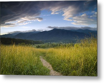 Parting Clouds At The Smokies Metal Print by Andrew Soundarajan