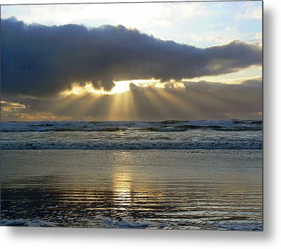Parting The Heavens Metal Print by Pamela Patch
