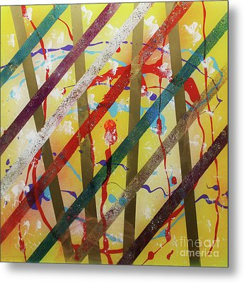 Party - Stripes 2 Metal Print by Mordecai Colodner