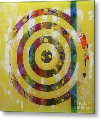 Party- Bullseye 2 Metal Print by Mordecai Colodner