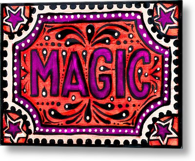 Metal Print featuring the painting Party Magic  by Nada Meeks