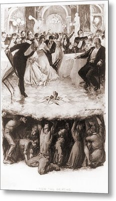 Party Of The Well-to-do Is Disrupted Metal Print by Everett
