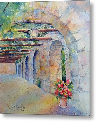 Passageway Of History At The Alamo Metal Print by Cynthia Roudebush