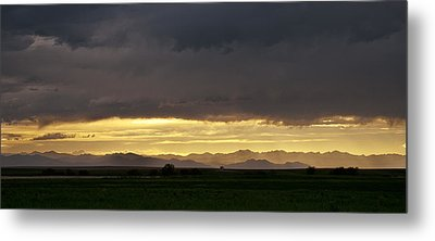 Metal Print featuring the photograph Passing Storm Clouds by Monte Stevens