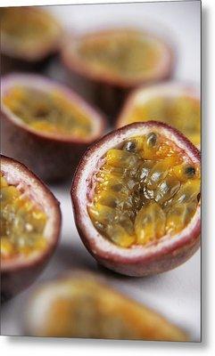 Passion Fruit Halves Metal Print by Veronique Leplat