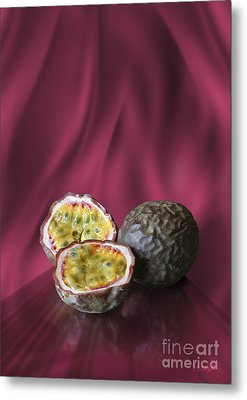 Metal Print featuring the digital art Passion Fruit by Johnny Hildingsson