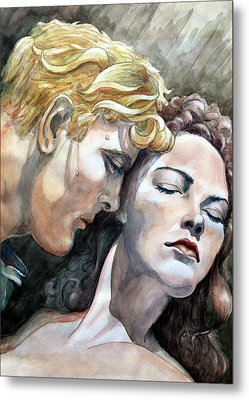 Passionate Embrace Metal Print by Hanne Lore Koehler