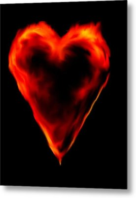 Passionate Heart Metal Print by Angela Stout