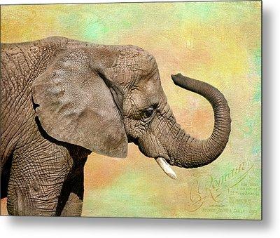 Pastel Elephant Metal Print
