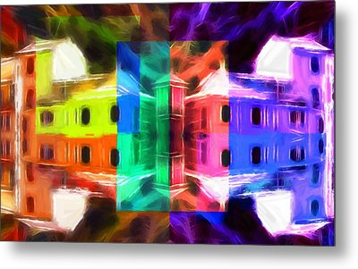 Pastel Windows Metal Print by Steve K