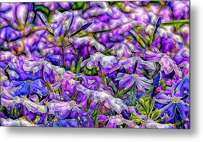 Pastelated Florets Metal Print by Bill Tiepelman