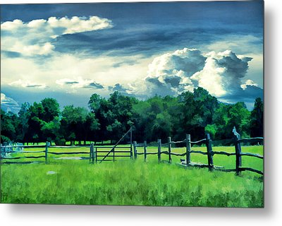 Pastoral Greenery Metal Print by Lourry Legarde