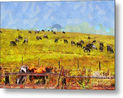 Pastoral Landscape Painterly . 7d15962 Metal Print by Wingsdomain Art and Photography