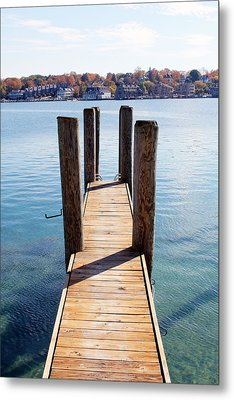 Path To The Harbor Metal Print by Sheryl Burns