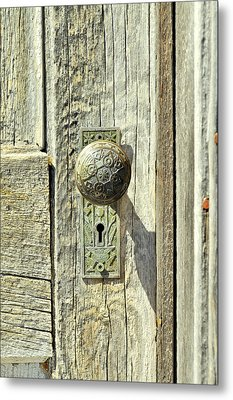 Metal Print featuring the photograph Patina Knob by Fran Riley