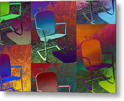 Metal Print featuring the photograph Patio Chair by David Pantuso