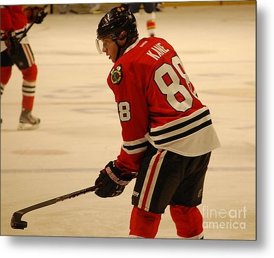 Metal Print featuring the photograph Patrick Kane - Chicago Blackhawks by Melissa Goodrich