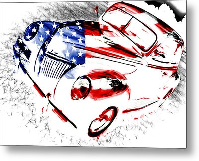 Patriotic 39 Ford Metal Print by Phil 'motography' Clark