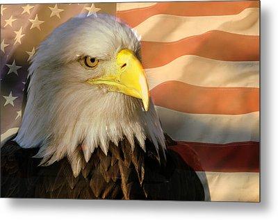 Patriotic Eagle Metal Print by Marty Koch