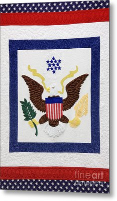 Patriotic Quilt Metal Print by Jeremy Woodhouse