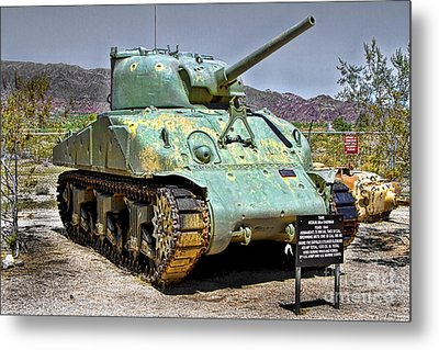 Metal Print featuring the photograph Patton M4 Sherman by Jason Abando