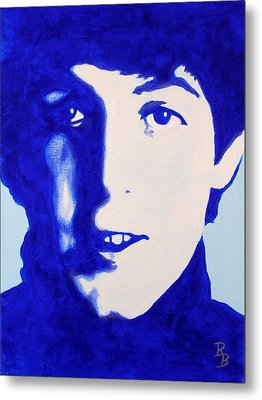 Paul Mccartney - The Beatles Metal Print by Bob Baker