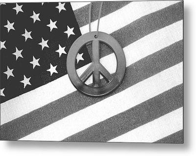 Peace And Patriotism Metal Print