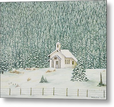 Peace In The Mountains Metal Print by Mary Ann King