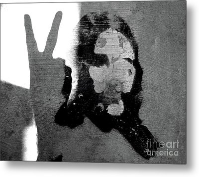 Peace Man Peace Metal Print by Joe Jake Pratt