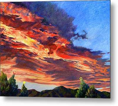 Peace On Earth Metal Print by Anne Gifford