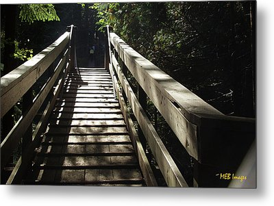 Peaceful Bridge Metal Print by Margaret Buchanan