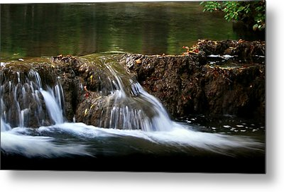 Metal Print featuring the photograph Peaceful Falls by Karen Harrison
