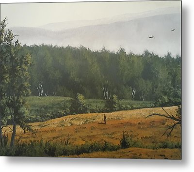 Peaceful Mountain Metal Print by James Guentner
