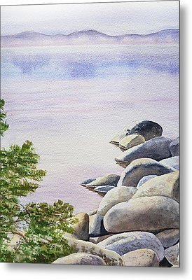 Peaceful Place Morning At The Lake Metal Print by Irina Sztukowski