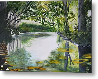 Peaceful Pond Metal Print by Tessa Dutoit