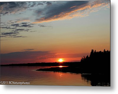 Metal Print featuring the photograph Peaceful Sunset by Rachel Cohen