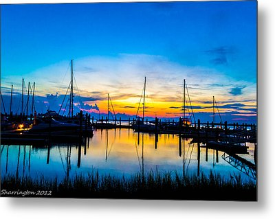 Peacefull Sunset Metal Print by Shannon Harrington