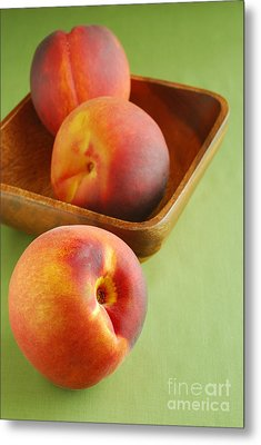 Peaches Metal Print by HD Connelly