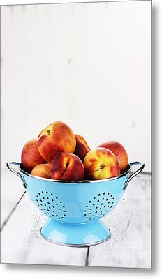 Peaches Metal Print by Stephanie Frey