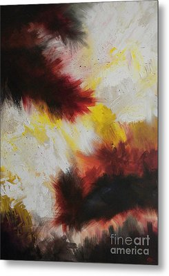 Peanut Butter And Jelly Sandwich Exploding In Mid-air Metal Print by Silvie Kendall