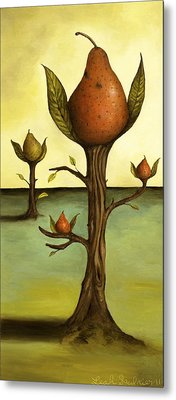 Pear Trees Metal Print by Leah Saulnier The Painting Maniac