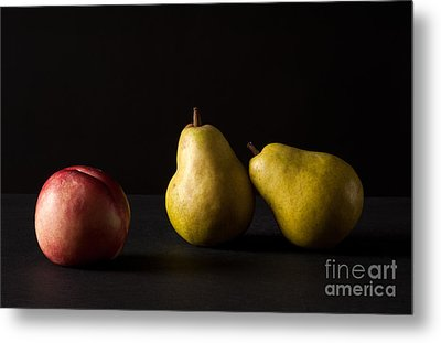 Pears And Peach Metal Print by Catherine Lau