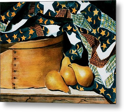 Pears And Stars Metal Print by Susan Elise Shiebler