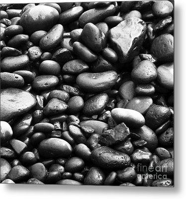 Pebbles Metal Print by Alexandra Jordankova