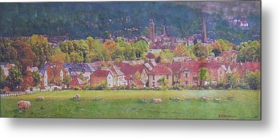 Metal Print featuring the painting Peebles Vista by Richard James Digance