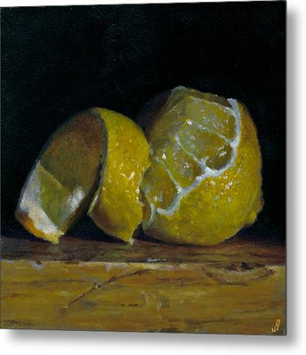 Peeled Lemon Metal Print by Jeffrey Hayes