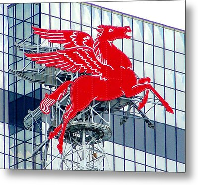 Pegasus Metal Print by Charlie and Norma Brock