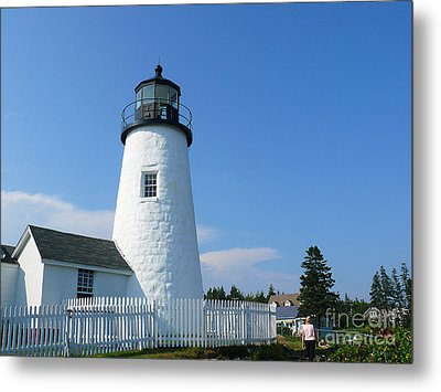 Metal Print featuring the photograph Pemaquid Lighthouse by Jeanne  Woods